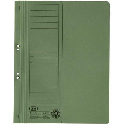 ELBA Ösenhefter aus Karton, grün, kaufmännische Heftung