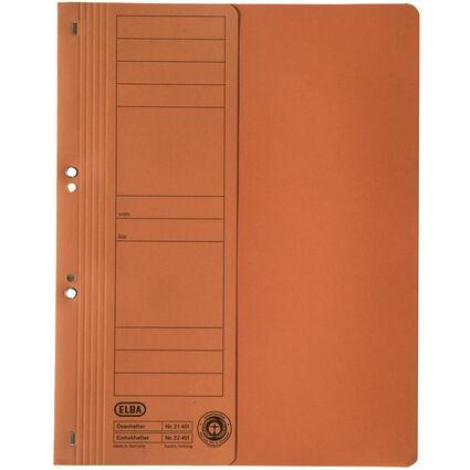 ELBA Ösenhefter aus Karton, orange, kaufmännische Heftung