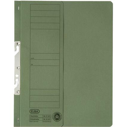 ELBA Einhakhefter aus Karton, grün, Behördenheftung