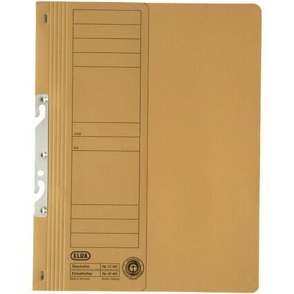 ELBA Einhakhefter aus Karton, gelb, kaufmännische Heftung