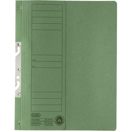 ELBA Einhakhefter aus Karton, grün, kaufmännische Heftung