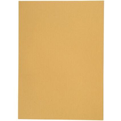 ELBA Aktendeckel, DIN A4, Manilakarton, ohne Druck, gelb