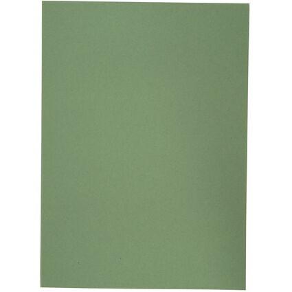 ELBA Aktendeckel, DIN A4, Manilakarton, ohne Druck, grün