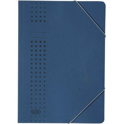 ELBA chic-Eckspanner aus Karton, A4, dunkelblau