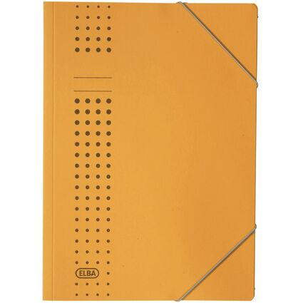ELBA chic-Eckspanner aus Karton, A4, gelb