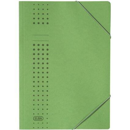 ELBA chic-Eckspanner aus Karton, A4, grün
