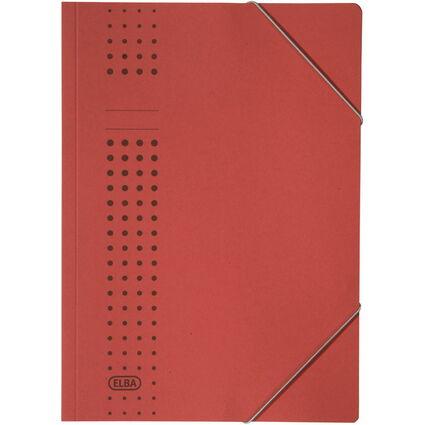 ELBA chic-Eckspanner aus Karton, A4, rot