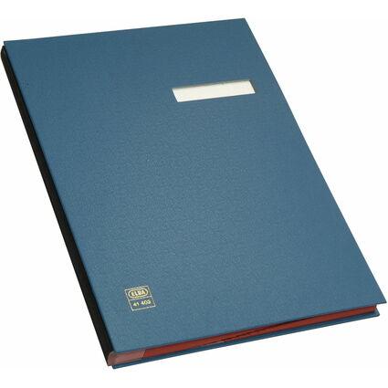 ELBA Unterschriftenmappe dehnbarer Leinenrücken, blau