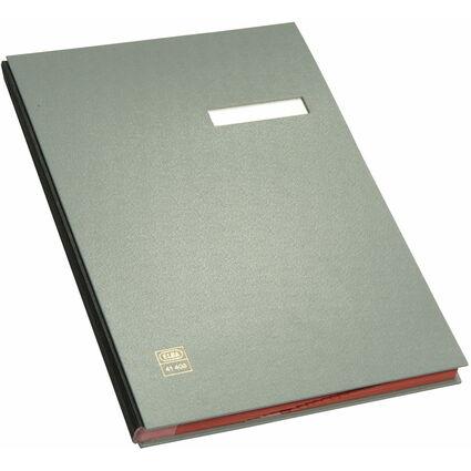ELBA Unterschriftenmappe dehnbarer Leinenrücken, grau