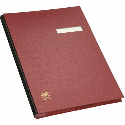 ELBA Unterschriftenmappe dehnbarer Leinenrücken, rot