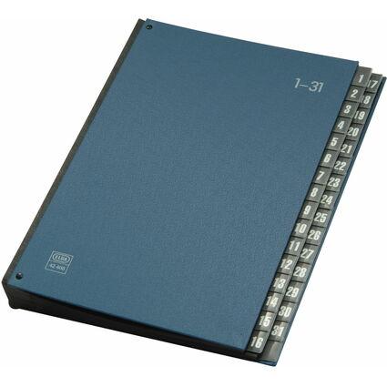 ELBA Pultordner 1-31, 32 Fächer, PVC, DIN A4, blau