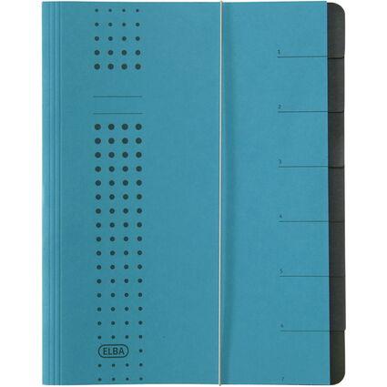 ELBA chic-Ordnungsmappe, A4 blau, Fächer 1-7, Karton