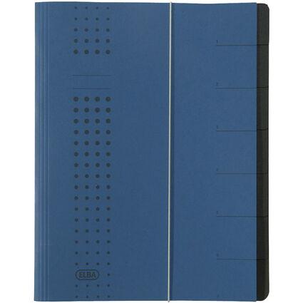 ELBA chic-Ordnungsmappe, Karton, A4, Fächer 1-7, dunkelblau