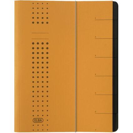 ELBA chic-Ordnungsmappe, A4 gelb, Fächer 1-7, Karton
