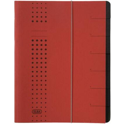 ELBA chic-Ordnungsmappe, A4 rot, Fächer 1-7, Karton