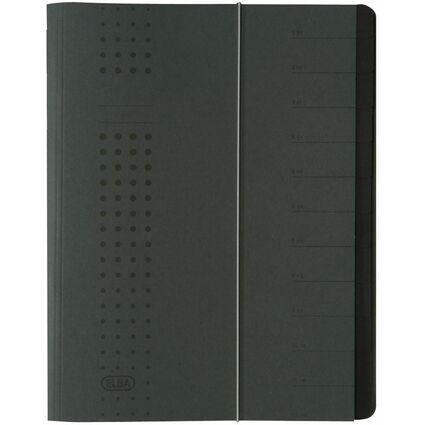 ELBA chic-Ordnungsmappe, A4 anthrazit, Fächer 1-12, Karton