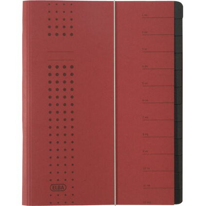 ELBA chic-Ordnungsmappe, A4 bordeaux, Fächer 1-12, Karton