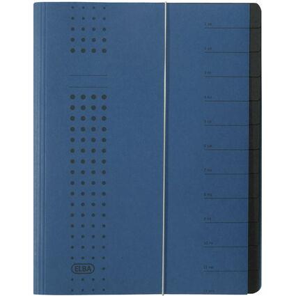 ELBA chic-Ordnungsmappe, A4 dunkelblau, Fächer 1-12, Karton