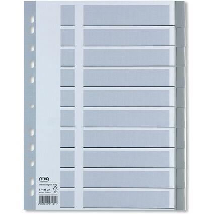 ELBA Kunststoff-Register mit Einsteckschildchen, 10-teilig
