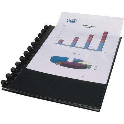 ELBA vario-zipp Ringmappe overhead, A4, schwarz