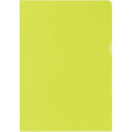 ELBA Sichthülle Premium, DIN A4, PVC, glasklar, gelb, 25er