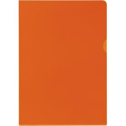 ELBA Sichthülle Premium, DIN A4, PVC, glasklar, orange, 25er