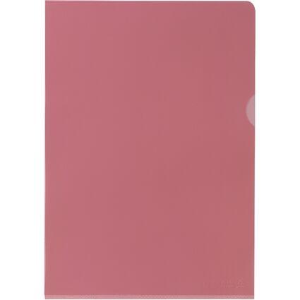 ELBA Sichthülle Premium, DIN A4, PVC, glasklar, rot, 25er