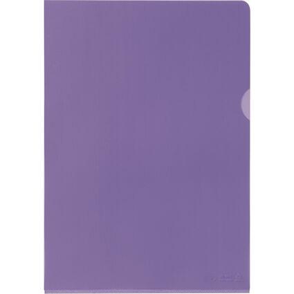 ELBA Sichthülle Premium, DIN A4, PVC, glasklar, violett, 25e