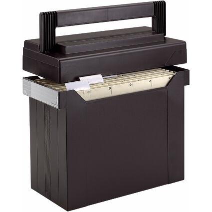 ELBA Hängeregistratur-Box go set go, gefüllt, schwarz