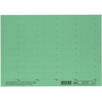 ELBA Beschriftungsschild für Sichtreiter, 4-zeilig, grün
