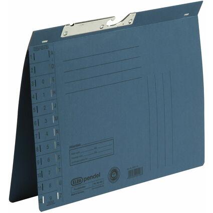 ELBA Pendelhefter, DIN A4, Manilakarton, 250 g/qm, blau