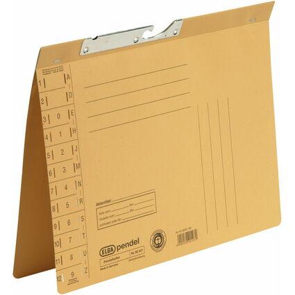 ELBA Pendelhefter, DIN A4, Manilakarton, 250 g/qm, gelb