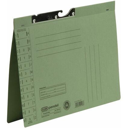 ELBA Pendelhefter, DIN A4, Manilakarton, 250 g/qm, grün