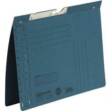 ELBA Pendelhefter, DIN A4, Manilakarton, 320 g/qm, blau