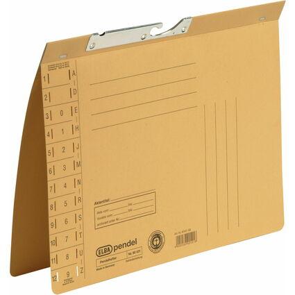 ELBA Pendelhefter, DIN A4, Manilakarton, 320 g/qm, gelb