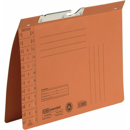 ELBA Pendelhefter, DIN A4, Manilakarton, 320 g/qm, orange
