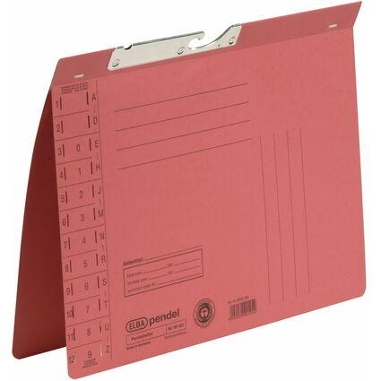 ELBA Pendelhefter, DIN A4, Manilakarton, 320 g/qm, rot