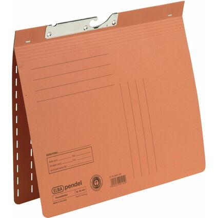 ELBA Pendelhefter, DIN A4, Manilakarton, 250 g/qm, orange