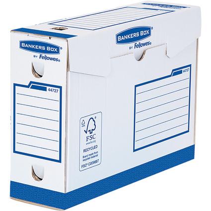 Fellowes BANKERS BOX Basic Archiv-Schachtel Heavy Duty, blau