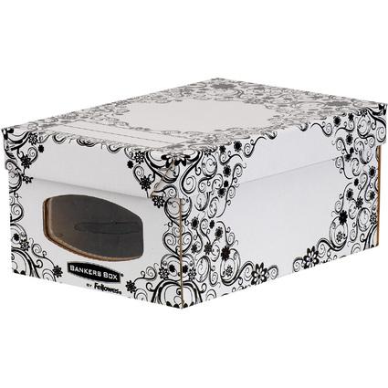 Fellowes BANKERS BOX STYLE Schuh-Box, klein, schwarz/weiß
