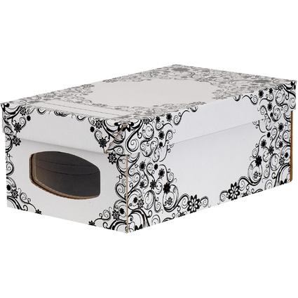 Fellowes BANKERS BOX STYLE Schuh-Box, groß, schwarz/weiß