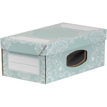 Fellowes BANKERS BOX STYLE Schuh-Box, groß, grün/weiß