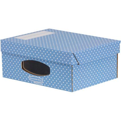 Fellowes BANKERS BOX STYLE Archiv-Aufbewahrungsbox,blau/weiß