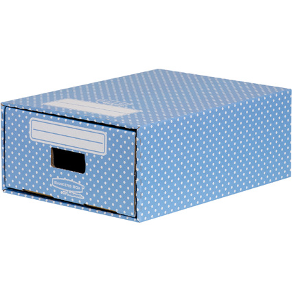 Fellowes BANKERS BOX STYLE Archiv-Schublade, blau/weiß