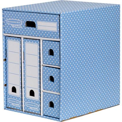 Fellowes BANKERS BOX STYLE Schreibtisch-Organizer, blau/weiß