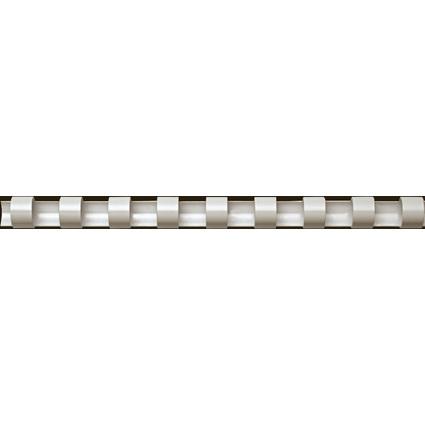 Fellowes Plastikbinderücken, DIN A4, 21 Ringe, 16 mm, weiß