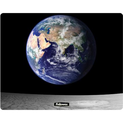 Fellowes Maus Pad BRITE, Motiv: Erde und Mond, rechteckig