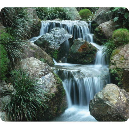 Fellowes Maus Pad EARTH, Motiv: Wasserfall, rechteckig