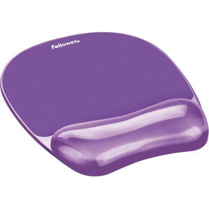 Fellowes Handgelenkauflage Crystals Gel mit Maus Pad,violett