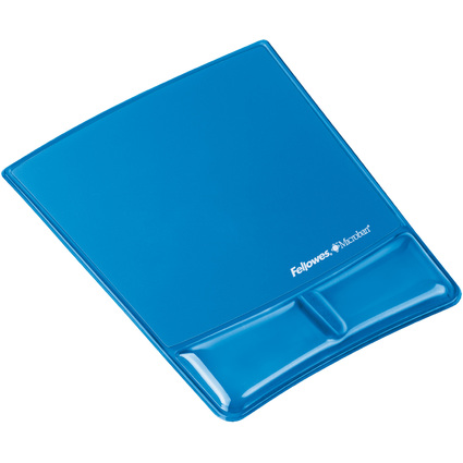 Fellowes Handgelenkauflage Health-V Crystals, blau